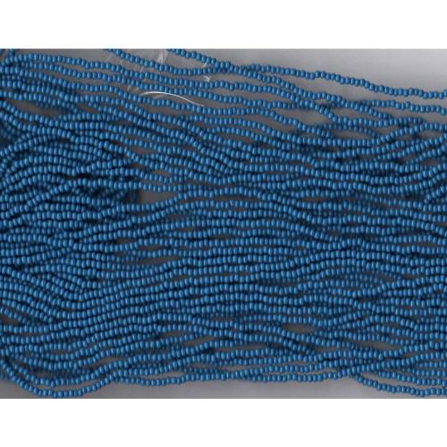 Czech Medium Blue Opaque Glass Bead (247): 10/0