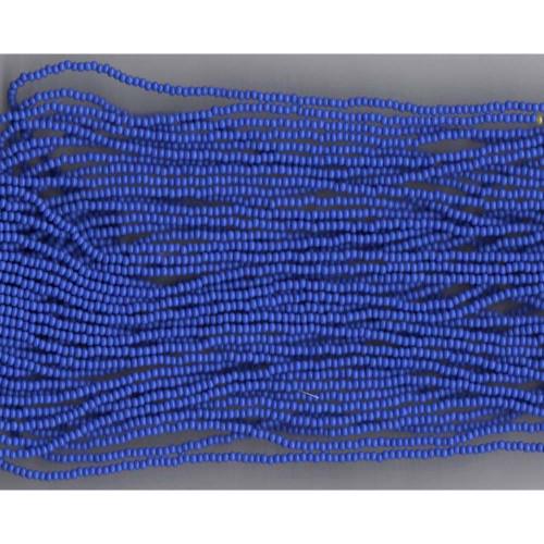 Czech Periwinkle Blue Opaque Glass Bead (254): 13/0 Cut