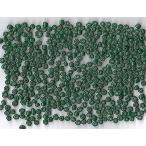 Venetian Glass Bead Forest Green 8 Translucent: Size 5 Pony Bead