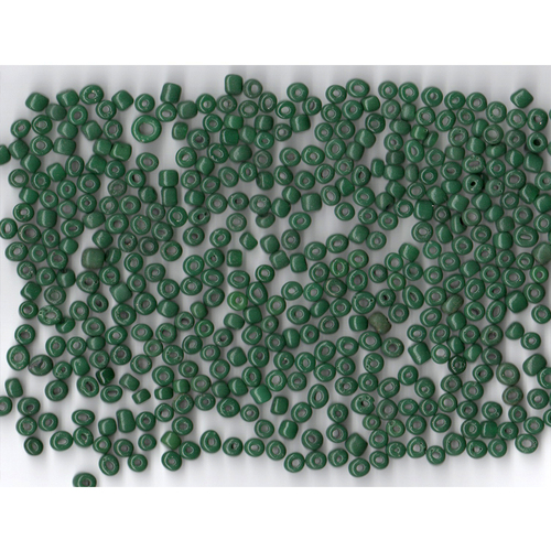 Venetian Glass Bead Forest Green 8 Translucent: Size 5 Pony Bead