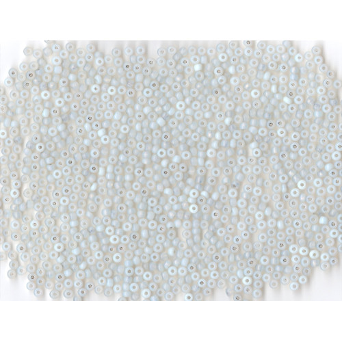 Venetian Clear 2 Opaline Glass Bead: Size 8 Pony Bead