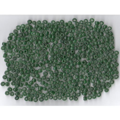 Venetian Glass Bead Forest Green 10 Translucent: Size 5 Pony Bead