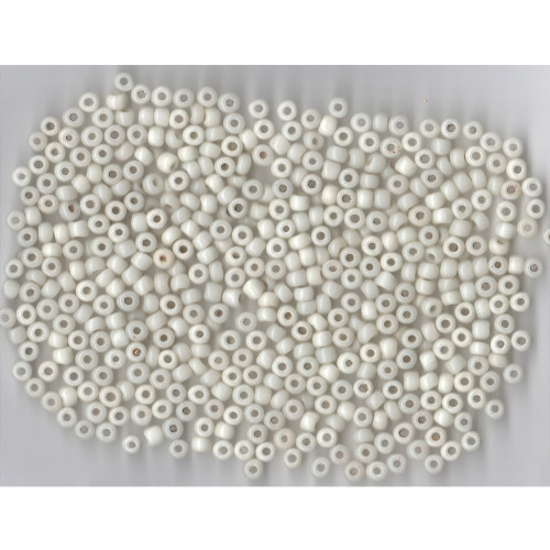 Venetian Glass Beads White 3 Translucent: Size 2 Pony Bead