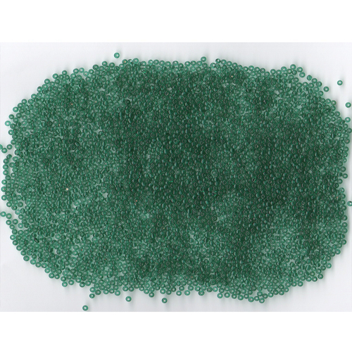 Venetian Glass Beads Jungle Green 3 Transparent: Size 11/0