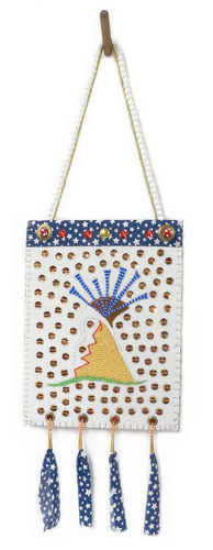 Native American Hand Made Bag: Greed - Side 1