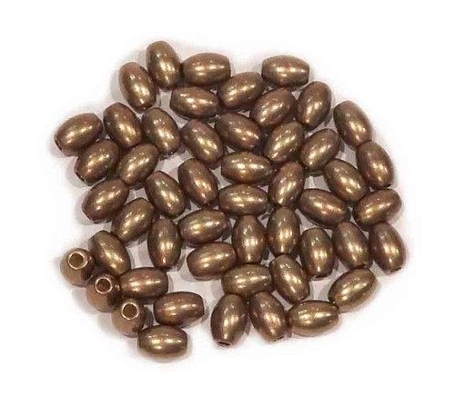 French Solid Brass Beads Oval