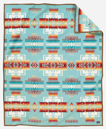 Pendleton Blanket: Chief Joseph Collection, Aqua
