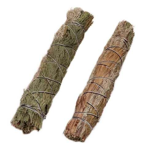 Three Mix Wand: Sage, Cedar, Sweetgrass