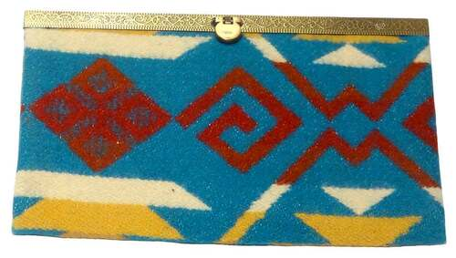 Native American Clutch Wallet: Turquoise
