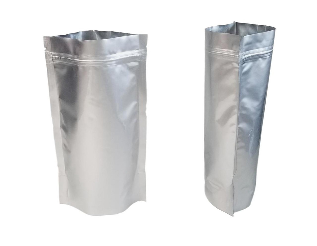 "5""x8.2""x2.5"" Gusseted Ziplock Mylar Bag - 5 mil - (Case of 2000)"