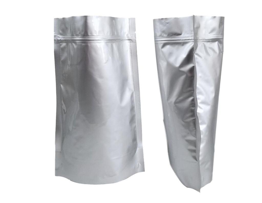 "8""x12""x4"" 2 Quart Gusseted Ziplock Mylar Bag - 5 mil (Case of 1000)"
