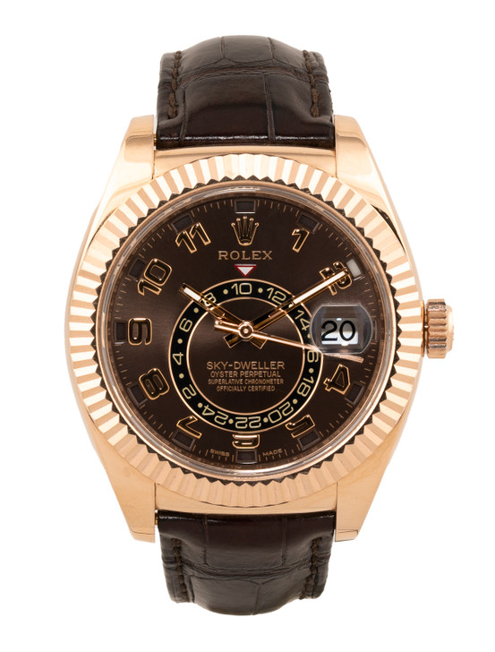 Rolex Oyster Perpetual Sky-Dweller Annual Calendar Watch in 18k Everose Gold Reference – 326135 Buy Pre-owend / used watches at unbelievable prices at SecondTime.