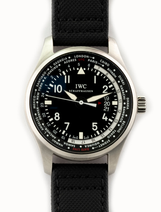 IWC Pilot Worldtimer in Stainless Steel Reference - IW326201 (Time CAPSULE) - Complete with original IWC box, IWC warranty card (dated 09/2013), instruction manual, and after sales guarantee booklet. Available at SecondTime