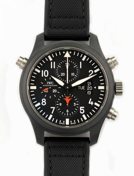IWC Pilot Double Chronograph TOP GUN in Ceramic Reference - IW379901 Available at SecondTime.Buy Pre-owend / used watches at unbelievable prices