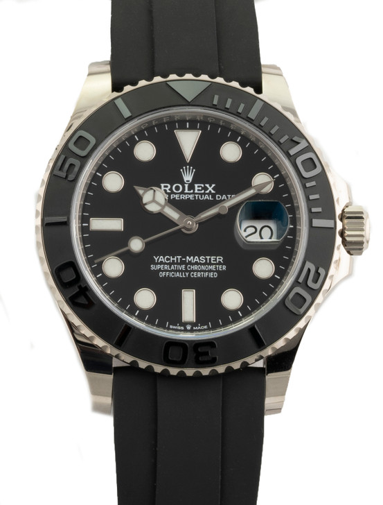 Rolex Yacht-Master 226659 42mm White Gold Case on Oysterflex Rubber Strap
