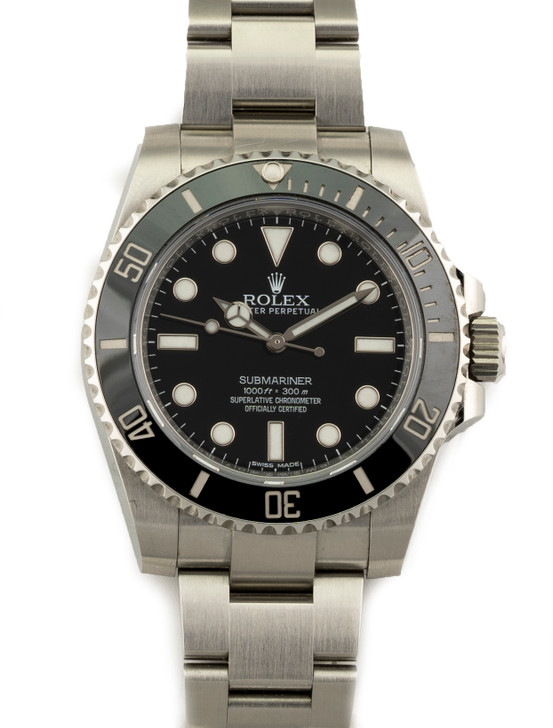 Rolex Submariner No Date 114060 40mm Stainless Steel Ceramic SecondTime