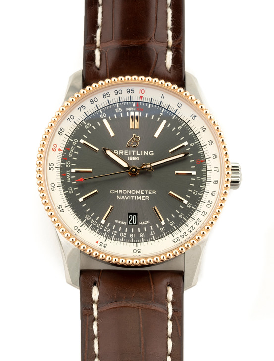 Breitling Navitimer Automatic 41 Steel & 18k Rose Gold Anthracite Dial  U17326211M1P1 Now Available At SecondTime watches