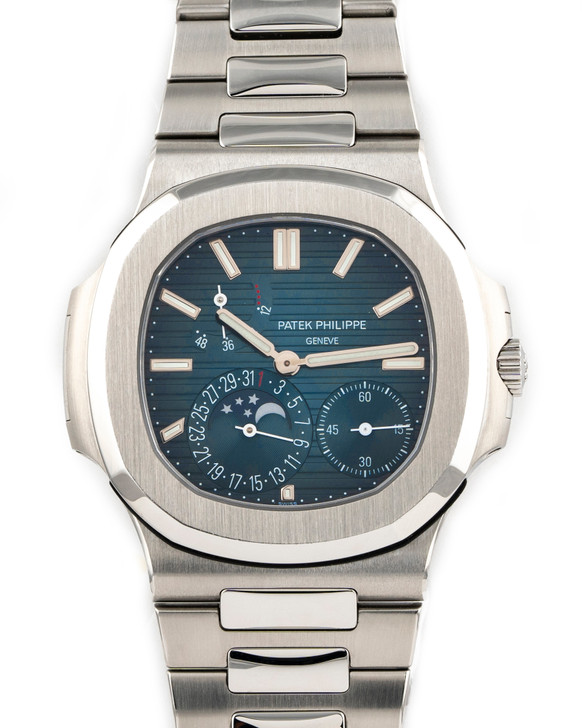 Patek Philippe Nautilus Moonphase Power Reserve 5712/1A-001 available at SecondTime.com
