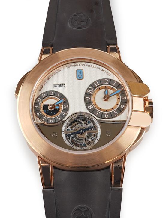 Harry Winston Project Z5 Tourbillon World Time 400-MATTR-45R Available at SecondTime.com