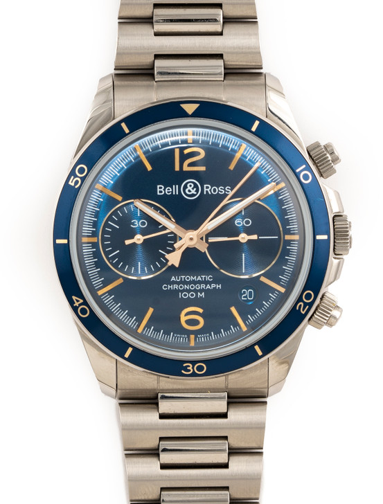 Bell & Ross BR V2-94 Aeronavale BRV294-BU-G-ST/SST avaiable at  SecondTime.com
