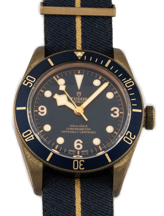 Tudor Black Bay Bronze Bucherer Blue 79250 available at SecondTime