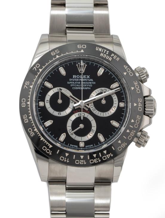 Rolex Daytona Ceramic Bezel Stainless Steel Black Dial 116500LN available at SecondTime.com