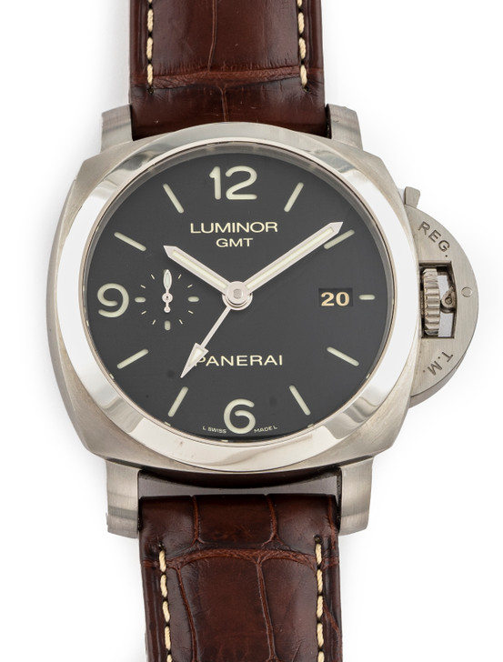 Panerai Luminor 1950 GMT 3 Days Pam320 available at SecondTime.com
