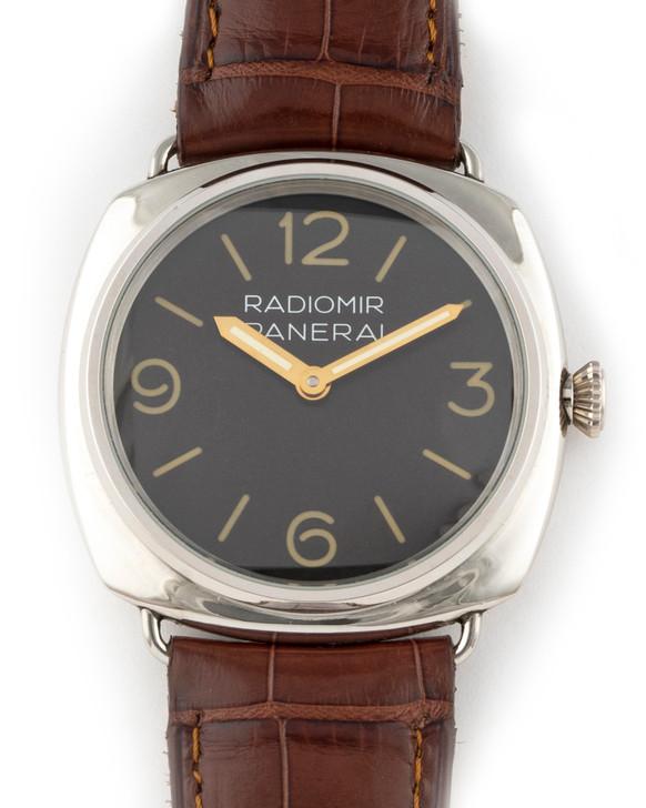 Panerai PAM21 48mm Platinum Radiomir (Rolex Movement) available at Secondtime.com