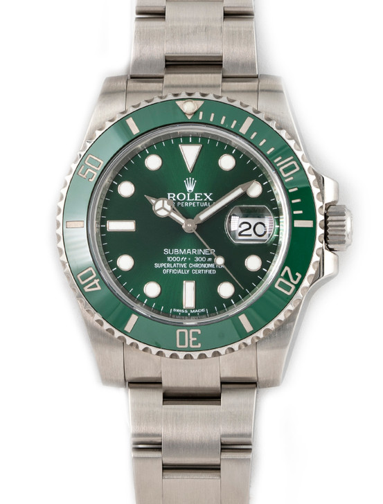 "Rolex Submariner Date 116610 LV  ""HULK"" available at SecondTime.com"