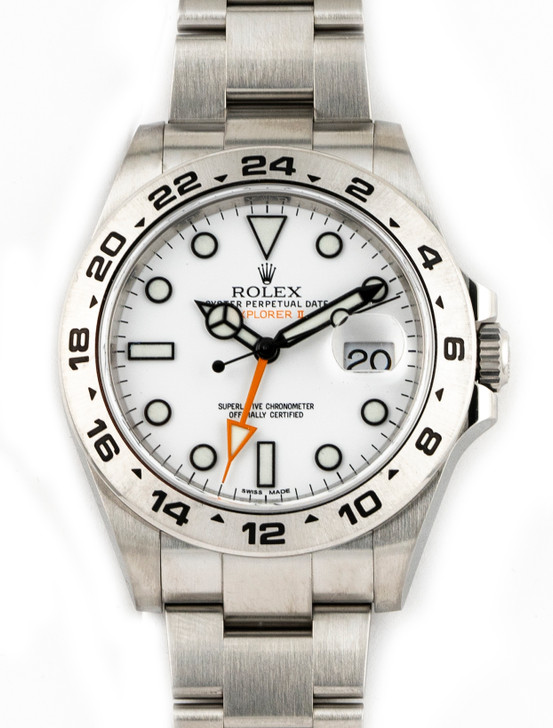 Rolex Explorer II 2020 Polar White 216570 42MM available at SecondTime.com