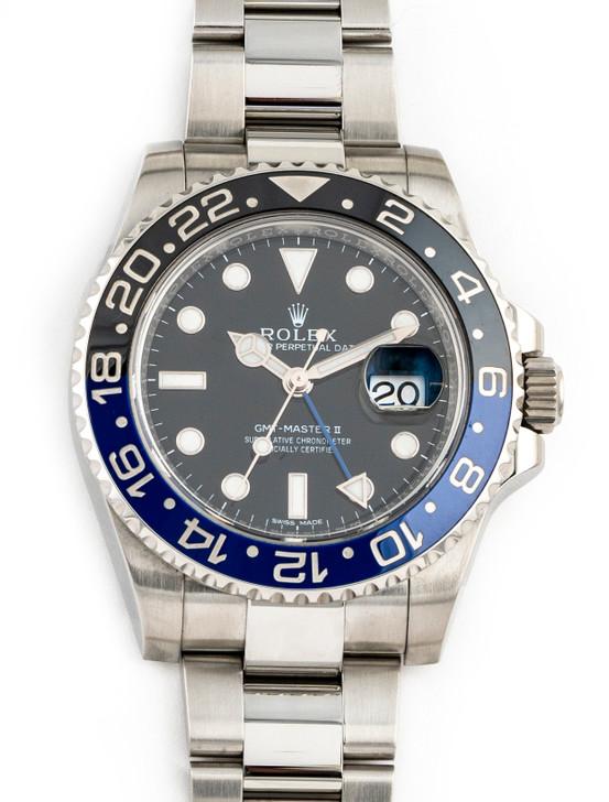 Rolex GMT-Master II Ceramic Black Blue Bezel Batman 116710BLNR available at SecondTime.com
