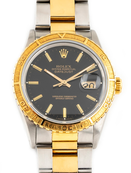 Rolex Datejust Thunderbird Turn-O-Graph 16253 SS/18k available at SecondTime.com