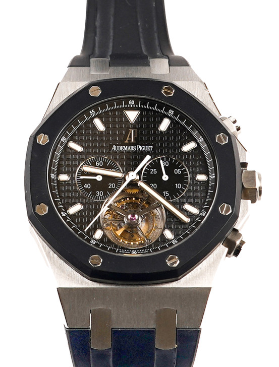Audemars Piguet Royal Oak Chronograph Tourbillon ST26377SKOOD002CA01 available at secondTime.com