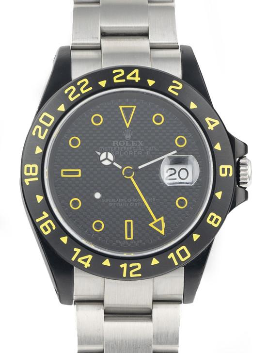 Rolex Explorer II 40mm 16570 GMT LabelNoir available at SecondTime.com