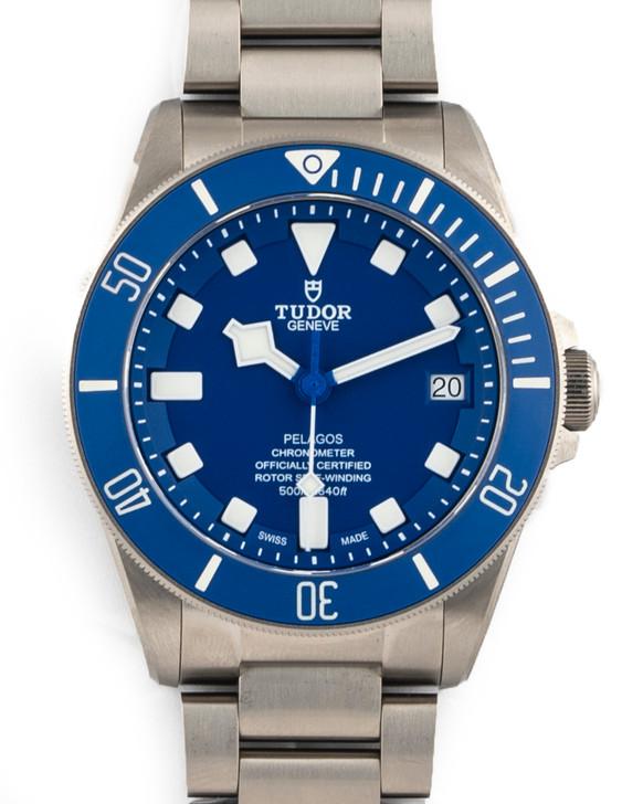 Tudor Pelagos Divers Watch 42mm Titanium BLUE SMURF