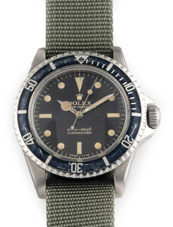 Rolex 1963 Vintage Rolex Submariner 5513 Pointed Crown Guard Gilt Bart Simpson