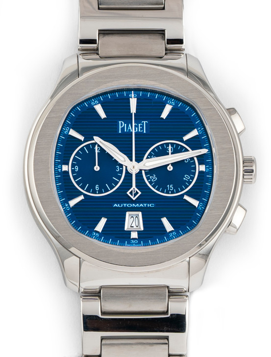 Piaget Polo SChronograph G0A41006 42mm Stainless Steel BLUE DIAL