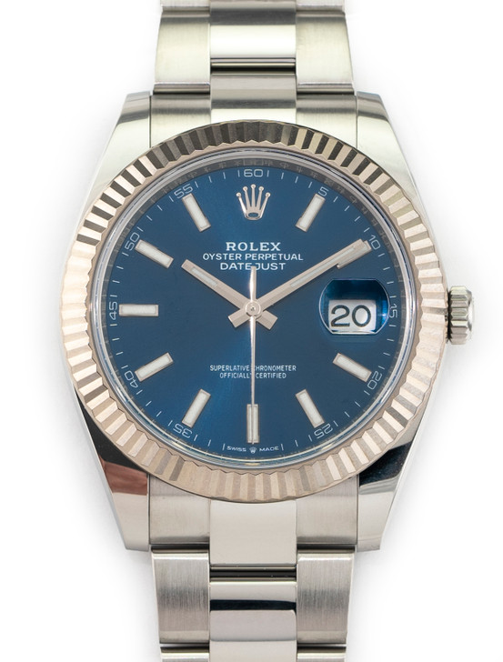 Rolex Datejust 41mm 126334  Blue Stick Stainless Steel 2020 Oyster