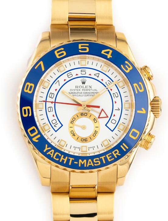 Rolex Yacht Master II 116688 18k Yellow Gold Oyster  Blue Ceramic 44mmBezel