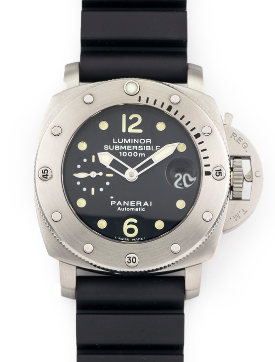 Panerai Luminor 1950 44MM Submersible 1000m PAM 243 Stainless Steel