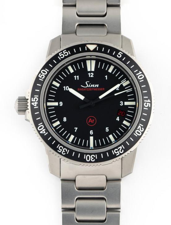 SINN Mens DIving Watch EZM3 603.EZM3 603.010 Automatic Date WR500M SS 41mm