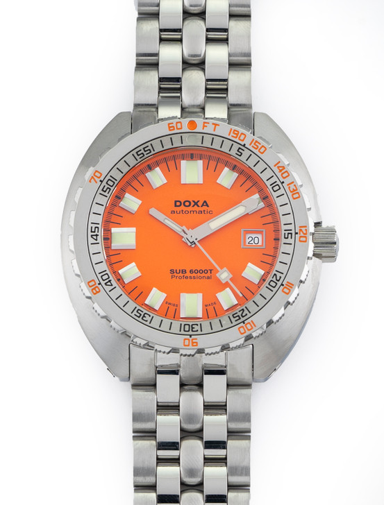 Doxa Sub 6000T Professional Diver 45mm Stainless Steel Orange Dial 0007/1000