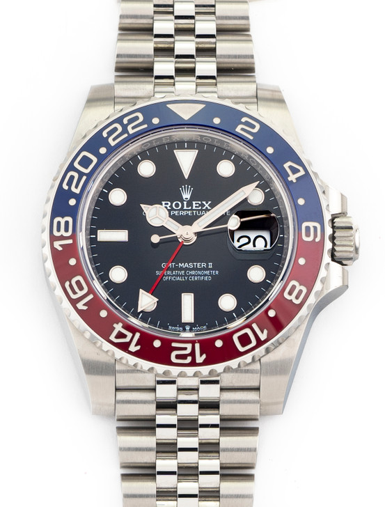 Rolex GMT-Master II Jubilee Pepsi 126710 BLRO Ceramic Red Blue NEW April 2021