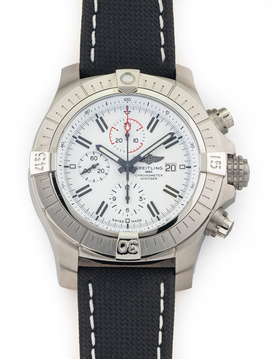 Breitling Super Avenger Chrono 48mm A13375 Limited Edition White Dial