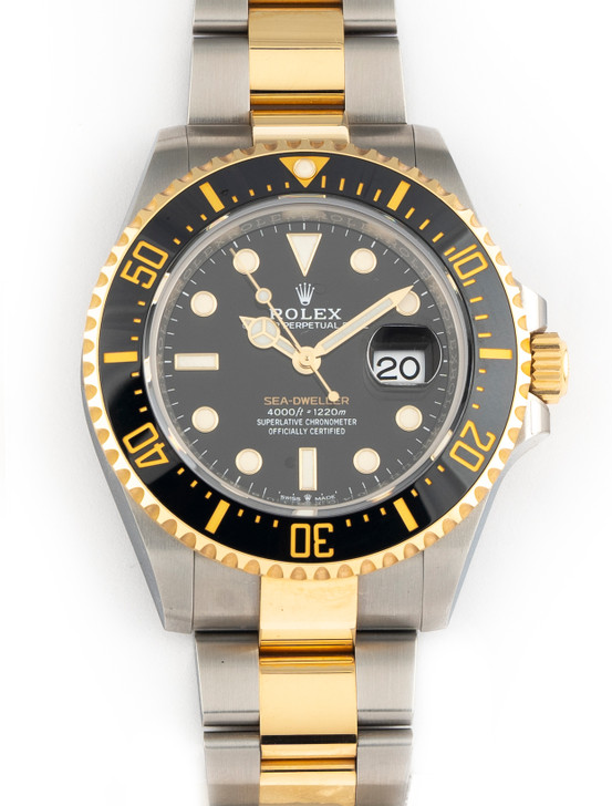 April 2021 Rolex Sea-Dweller Two Tone 18k Gold and Steel 43mm 126603 Box Papers