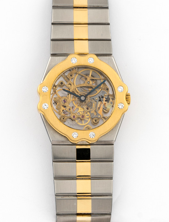 Chopard St Moritz Full Skeleton Dial 32mm SS 18k Yellow Gold - Discontinued