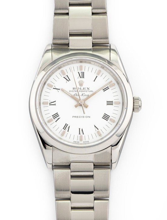 Rolex Air-King Precision 34mm Stainless Steel White dial 14010
