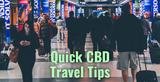 Quick CBD Travel Tips