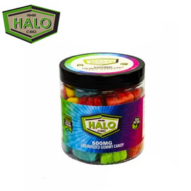 HALO CBD Infused Gummy Candy Jar 500mg - Assorted Flavors