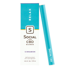 Social CBD Blends 250mg Cinnamon Disposable Prefilled Vape Pen 0.5ML